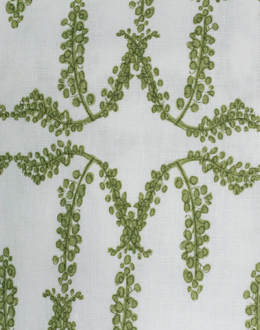 Mimosa Trellis Fabric, Green Lemon