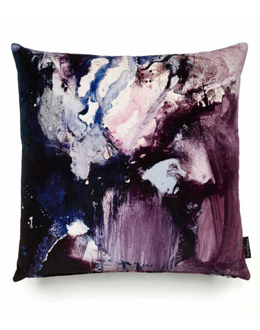 17 Patterns Nebulous Violet Cotton Velvet Cushion