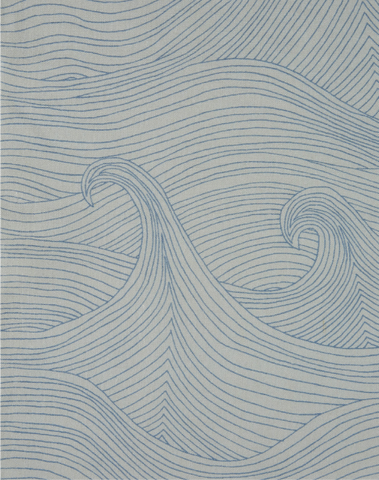 Seascape Linen Fabric, Summer