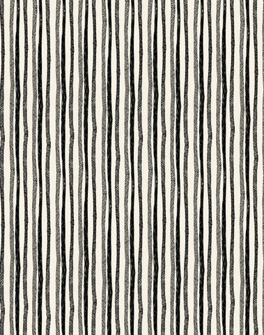 Stripes, Sumi Ink on Manila