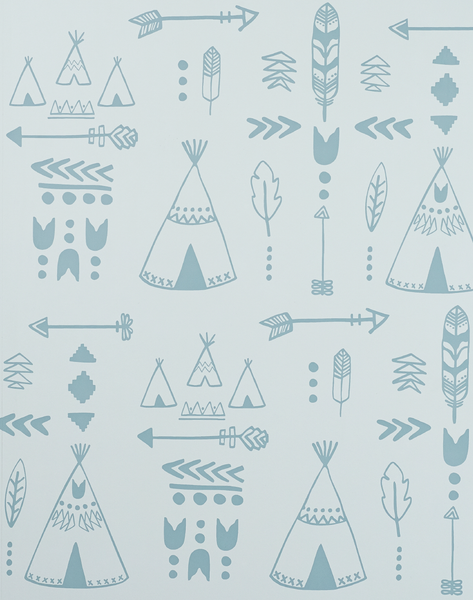 Teepees, Storm Green & Grey