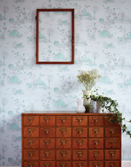 Woodlands Wallpaper in Blue