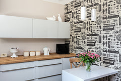 Airfix London Wallpaper in Black