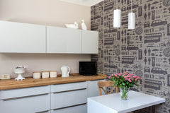 Airfix London Wallpaper in Taupe