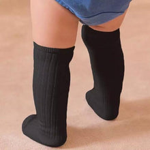 Load image into Gallery viewer, Black knee high sock