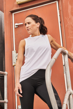 Womens Core Cotton Muscle - White
