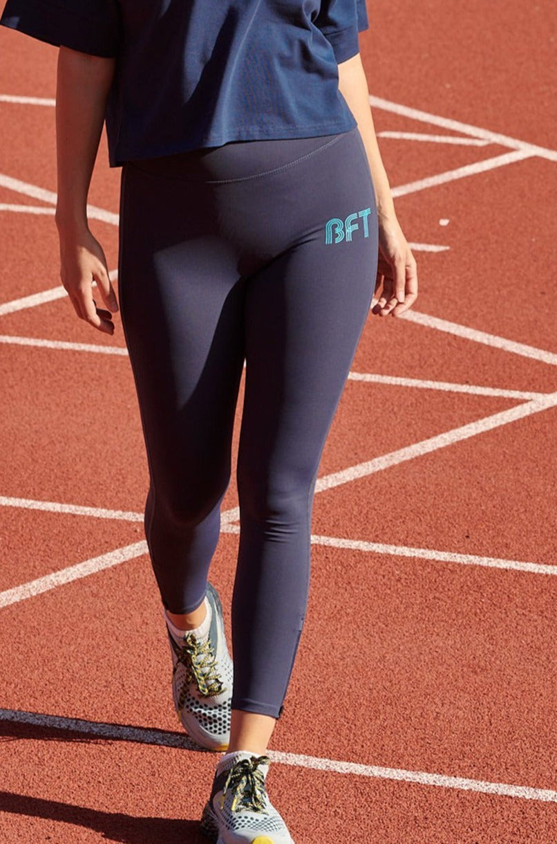 Womens Navy Performance Leggings