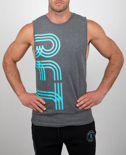 Mens Core Muscle Grey