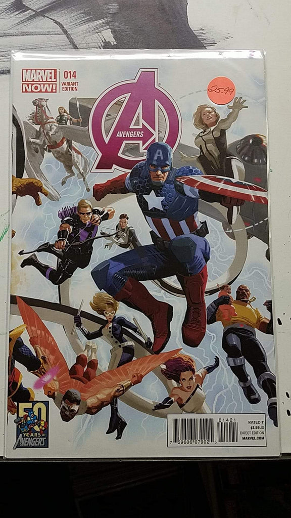 Avengers #14 Variant Comic Book with Price Tag