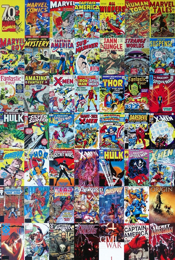 Classic Marvel Comic Book Covers