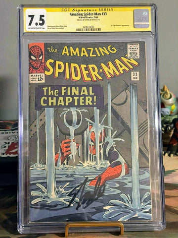 Amazing Spider-man #33 CGC SS 7.5 signed by Stan Lee