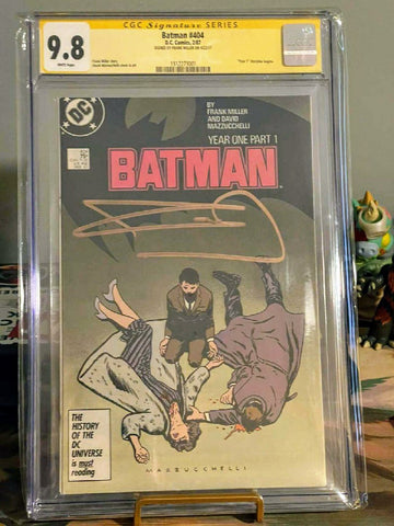 Batman #404 CGC 9.8 SS signed by Frank Miller