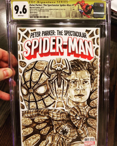 Custom Spider-Man Cover by Randy Proctor of Legal Burning