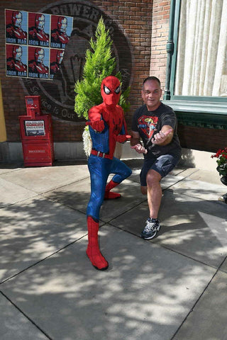 Seller Mark Buckingham and Spider-Man