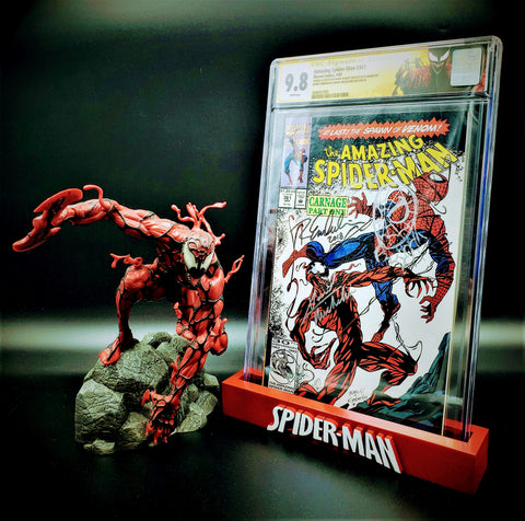 Amazing Spider-Man #361 CGC 9.8 SS and Carnage Statue