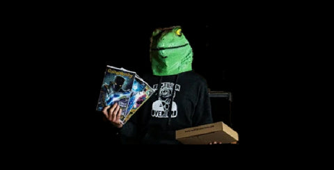 Reptilian Overlord with Books and Mailers