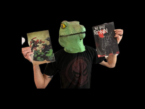 Reptilian Overlord with the Last Ronin Comic