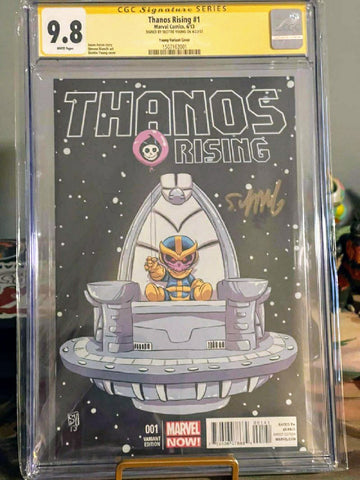 Thanos Rising #1 Variant CGC 9.8 SS signed by Skottie Young