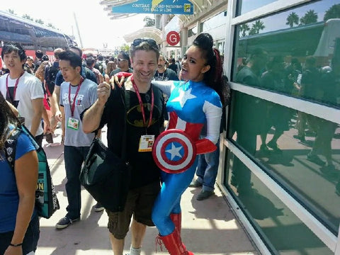Barry Dutter with Cosplayer