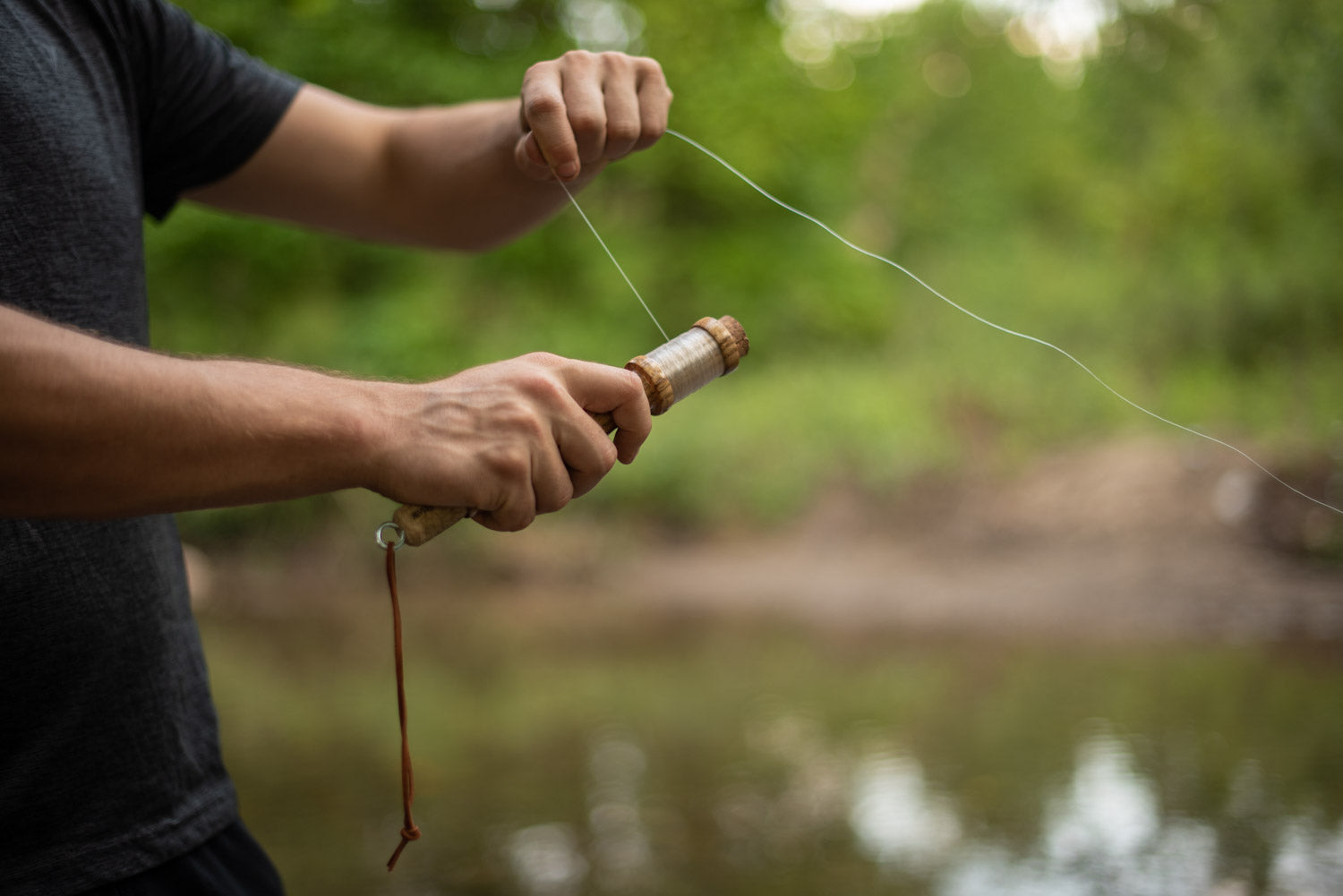 Fishing with a handline