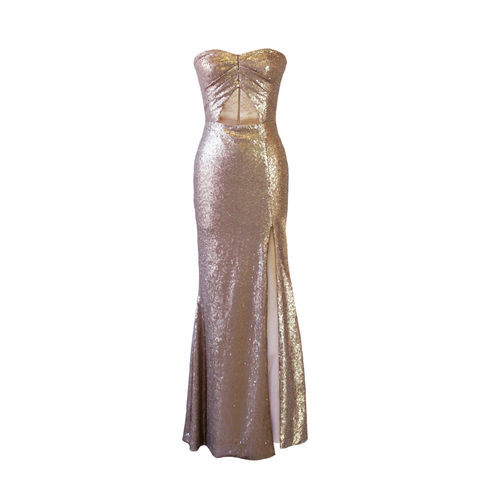 Allegra Gold Sequin Dress