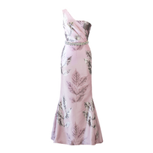 Load image into Gallery viewer, Aurora Pink Brocade Gown