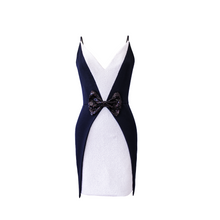 Load image into Gallery viewer, Cassie Tuxedo Mini Dress