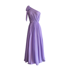 Load image into Gallery viewer, Eva One Shoulder Chiffon Dress
