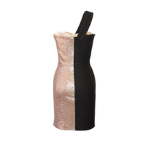 Load image into Gallery viewer, Fergie Two-Toned Sequin Mini Dress