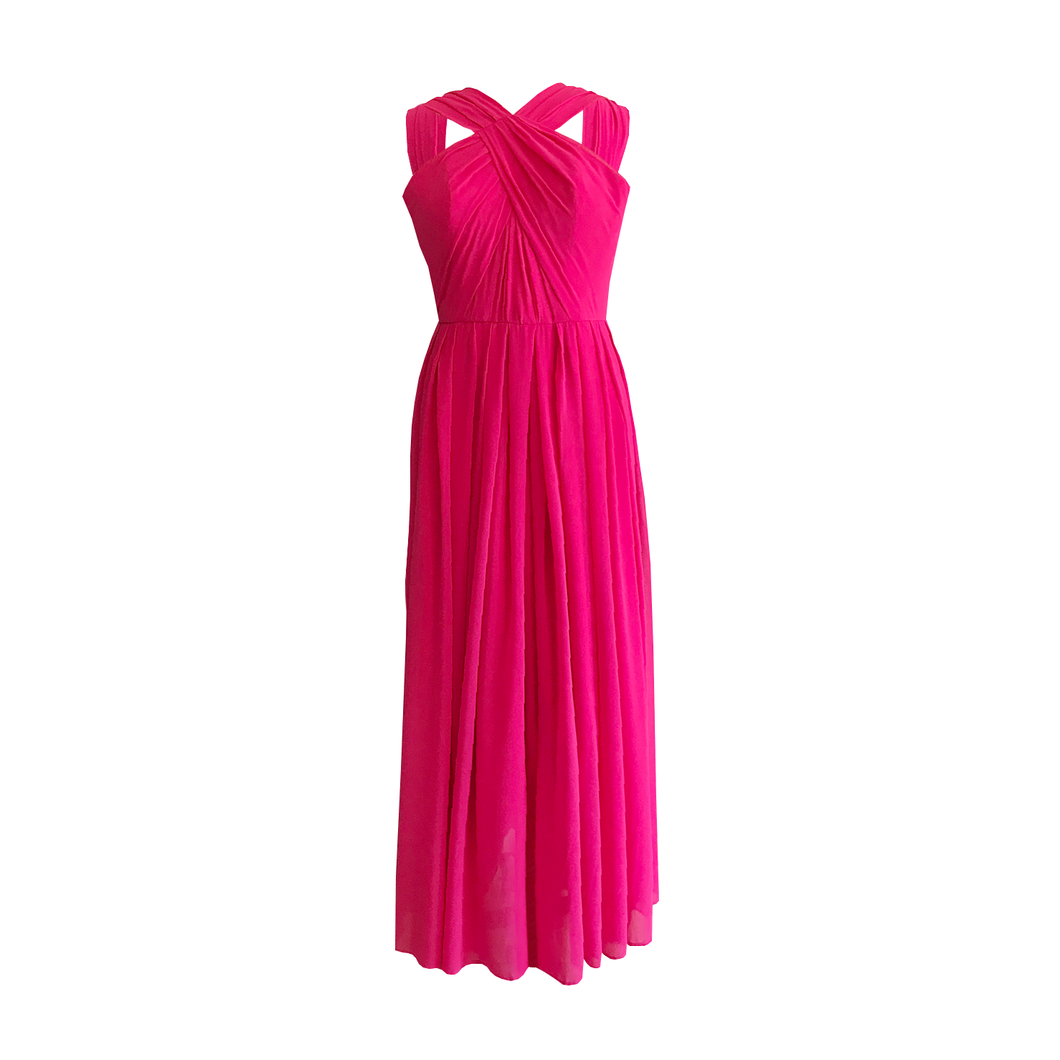 Hailey Draped Chiffon Dress