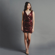 Load image into Gallery viewer, Sandrine Sequin Mini Dress
