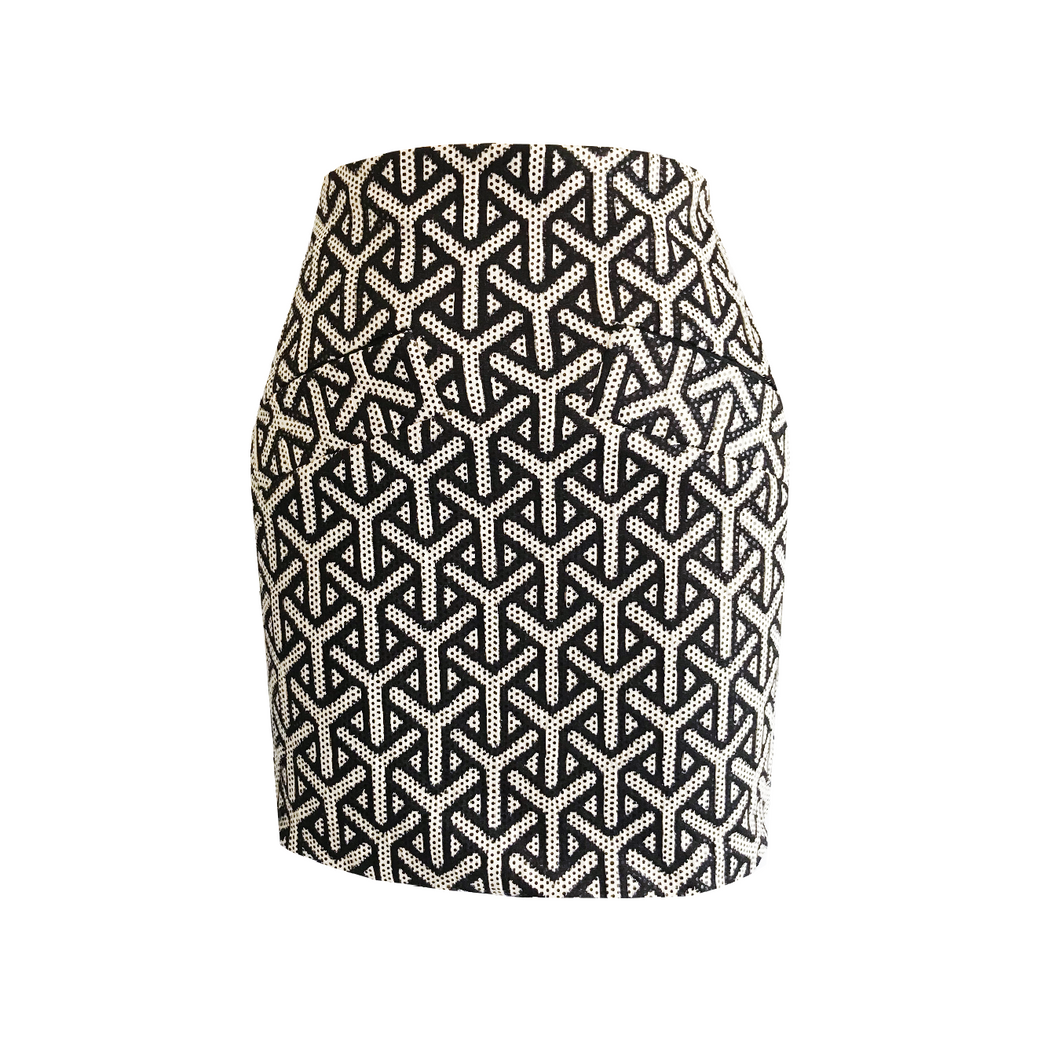 Tamara Geometric Print Mini Skirt