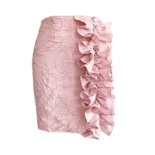 Load image into Gallery viewer, Violet Brocade Mini Skirt