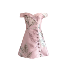 Load image into Gallery viewer, Viviana Brocade Mini Dress