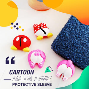Cartoon Data Line Protective Sleeve