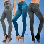 Button-Free Sharping Jeans Leggings