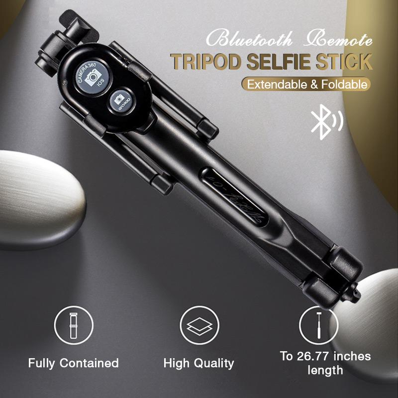 Bluetooth Remote Tripod Selfie Stick