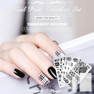 Nail Art Decals Stamper Scraper Kit