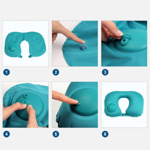 Press-type Inflatable U-shaped Pillow