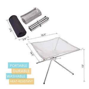 Portable Contractile BBQ Holder Rack