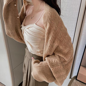 Fashion Knitted Pearl Shawl