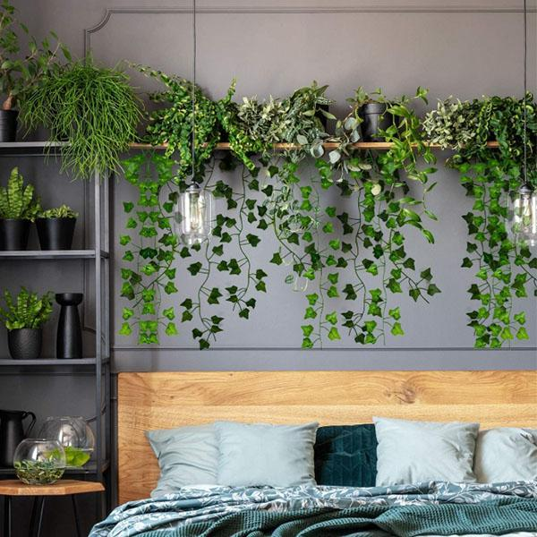 Artificial Hanging Plants Leaves