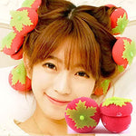 Strawberry Sponge Curl DIY Hairdressing Tools(6pcs)