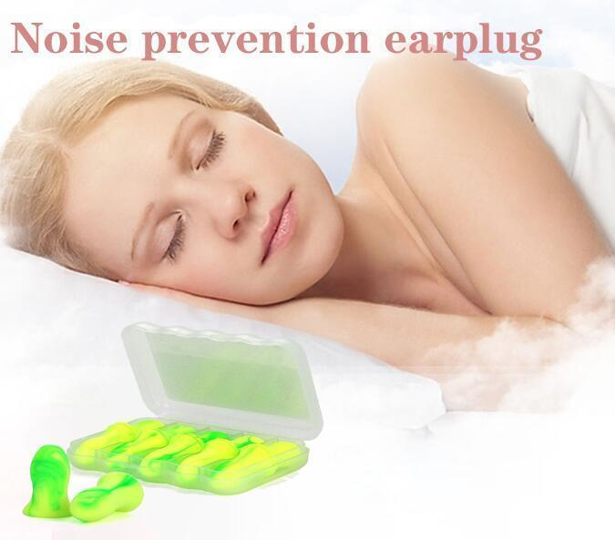 Reusable Noise Cancelling Soft Ear Plugs  (5 Pairs)