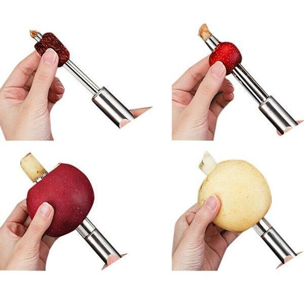Easy Twist Fruit Core Seed Remover(Set of 4)