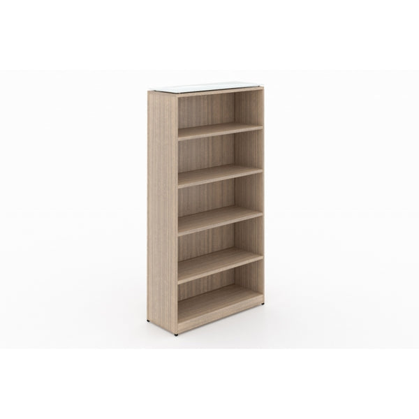 Corp Design Full Height Bookcase with Floated Glass Top