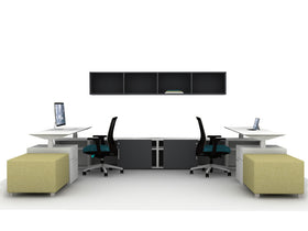 AIS Calibrate Shared Office with Height-Adjustable Tables