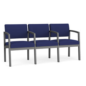 Lesro Lenox Steel 3-Seater with Center Arms
