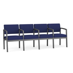 Lesro Lenox Steel 4-Seater with Center Arms