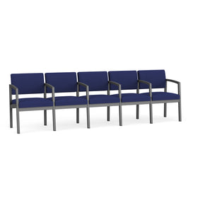 Lesro Lenox Steel 5-Seater with Center Arms